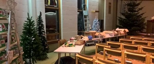 Christmas Tree Festival preparation